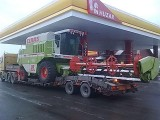 Transport kombajnow bizon claas john mdv