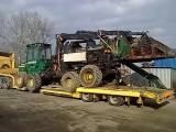 Transport Claas Jaguar John Deere