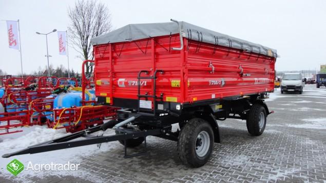 Przyczepa rolnicza dwuosiowa Metal-Fach 6 ton T 710 - zdjęcie 6