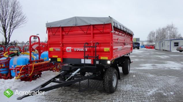 Przyczepa rolnicza dwuosiowa Metal-Fach 6 ton T 710 - zdjęcie 7