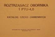Katalog roztrząsacza obornika PTU 4 (Rosyjski)