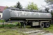 Cysterna paliwowa aluminiowa, naczepa,  4 x 6000 l