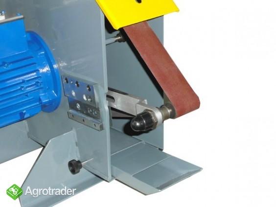 Szlifierka taśmowa z falownikiem - stołowa przemysłowa stacjonarna - zdjęcie 3