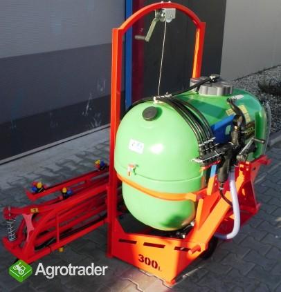 Opryskiwacz 300 litrów lanca 10m głowice podwójne V Cyklon Nowy - zdjęcie 3