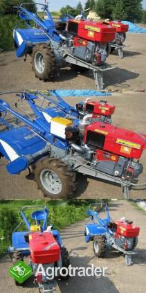 Ciągnik jednoosiowy, traktor z glebogryzarką  24 KM, silnik Diesla - zdjęcie 3