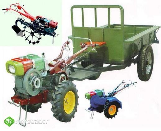 Ciągnik jednoosiowy, traktor z glebogryzarką  24 KM, silnik Diesla - zdjęcie 6
