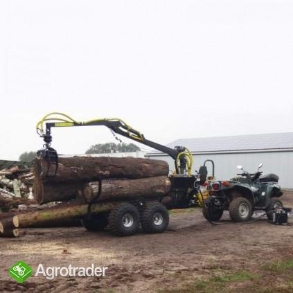 Wóz do przewozu drewna z HDS załadunkowym, max nośność 1,5 T