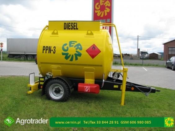 Zbiornik na paliwo na przyczepie z dystrybutorem  - zdjęcie 3