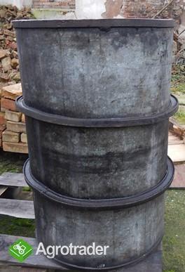 Beczki stalowe ocynkowane z obręczami 200 i 500 litrów