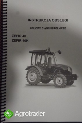 Instrukcja obsługi ciągnika PRONAR ZEFIR 40, 40 K.