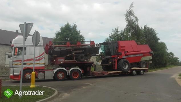 Transport kombajnów sieczkarni maszyn Claas Fent MF Holland Bizon - zdjęcie 4