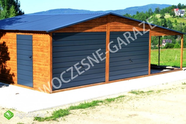 Garaż blaszany blaszak Wiata Hala Magazyn Domek Ogrodowy - zdjęcie 3