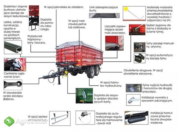 Przyczepa rolnicza Metal- Fach T730/3 – 12t - zdjęcie 4