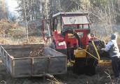 Rębak do drewna, gałęzi i zrzyn tartacznych POLEXIM. Rębak ciągnikowy