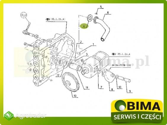 Pierścień układu hydraulicznego Renault CLAAS Ares 657 - zdjęcie 1