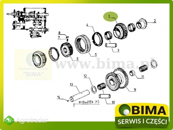 Używane koło zębate z28 Renault CLAAS 145-54,155-54 - zdjęcie 3