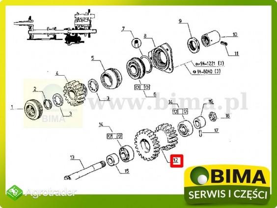Używane koło zębate wom z16/21 Renault CLAAS 851-4 - zdjęcie 3