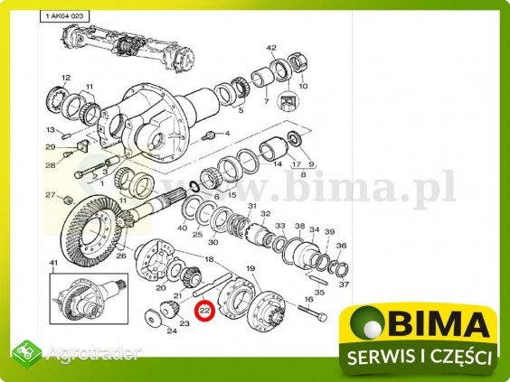 Sworzeń mechanizmu różnicowego Massey Ferguson 6130 - zdjęcie 1