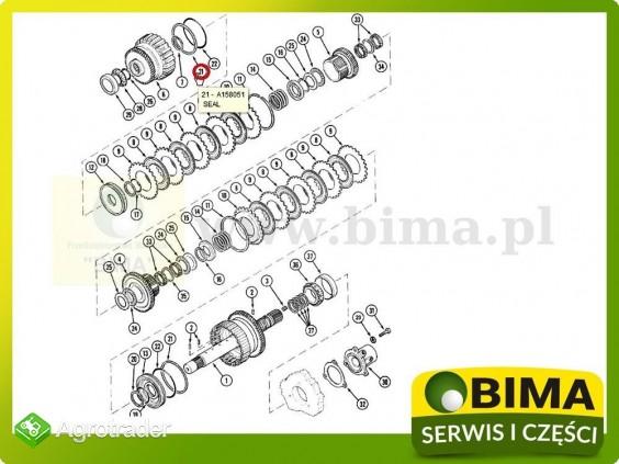Pierścień uszczelniający kosza Case IH MX80C,MX90C - zdjęcie 1