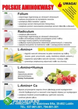 Polskie Aminokwasy, Biostymulator Agro-Sorb  L-Amino+ Ca  - zdjęcie 4