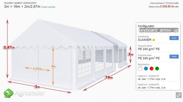 Mocny namiot bankietowy imprezowy okolicznościowy 3x16x2 mtbtent.pl!